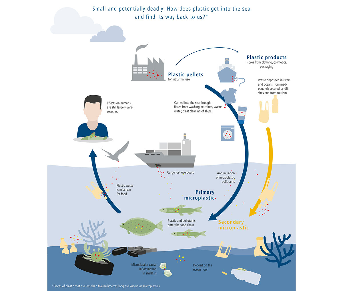 The microplastic cycle